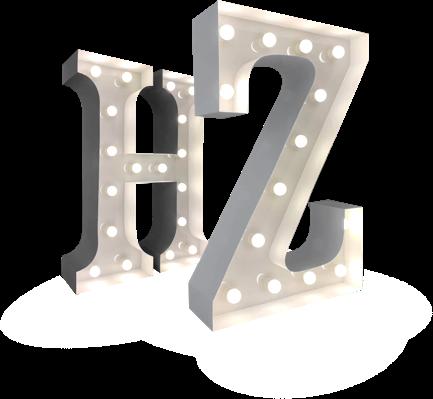 Lichtletters voorbeeld A-Z